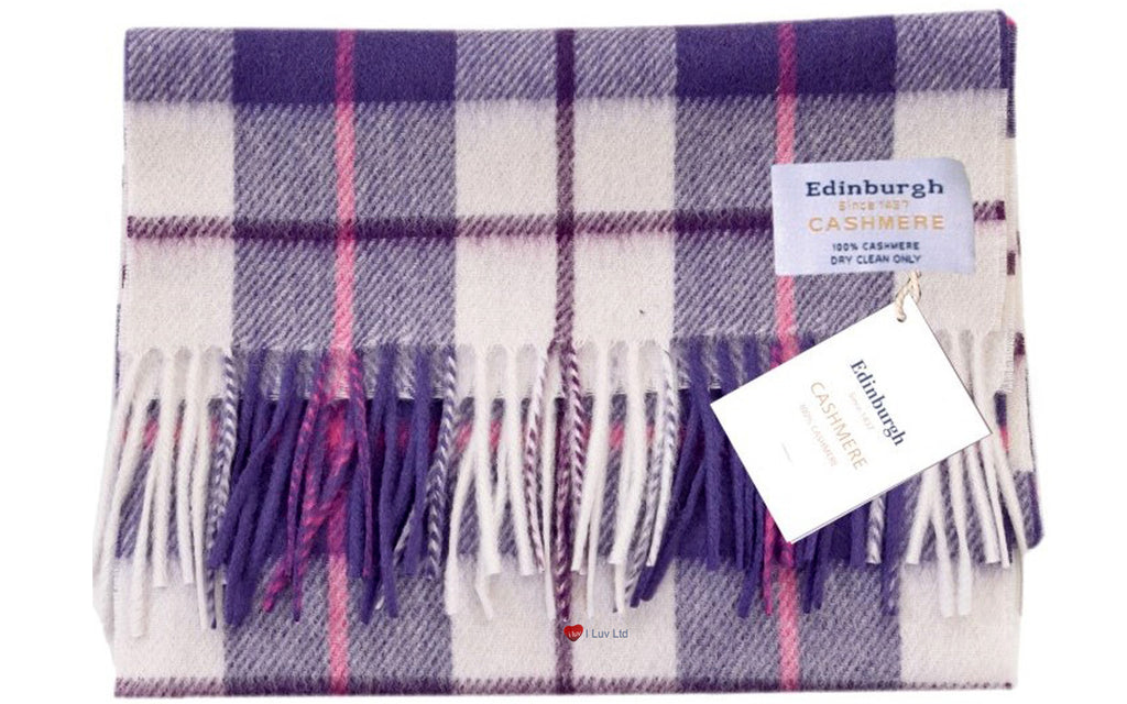 Edinburgh Cashmere Scarf Purple Dress