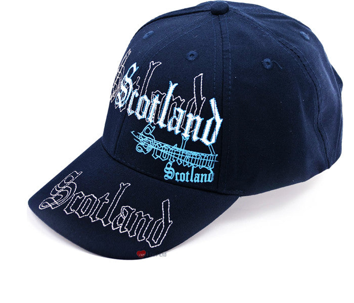 Baseball Cap Scotland Embroidery Navy