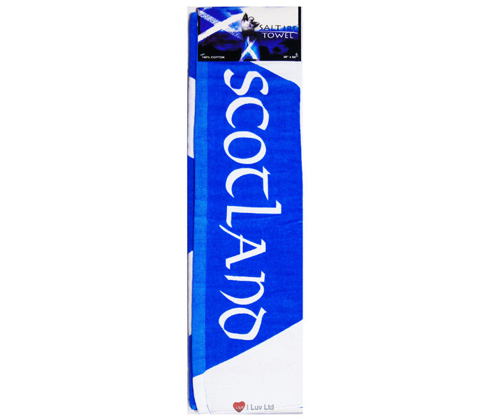 Beach Towel Scottish Flag Blue and White Saltire
