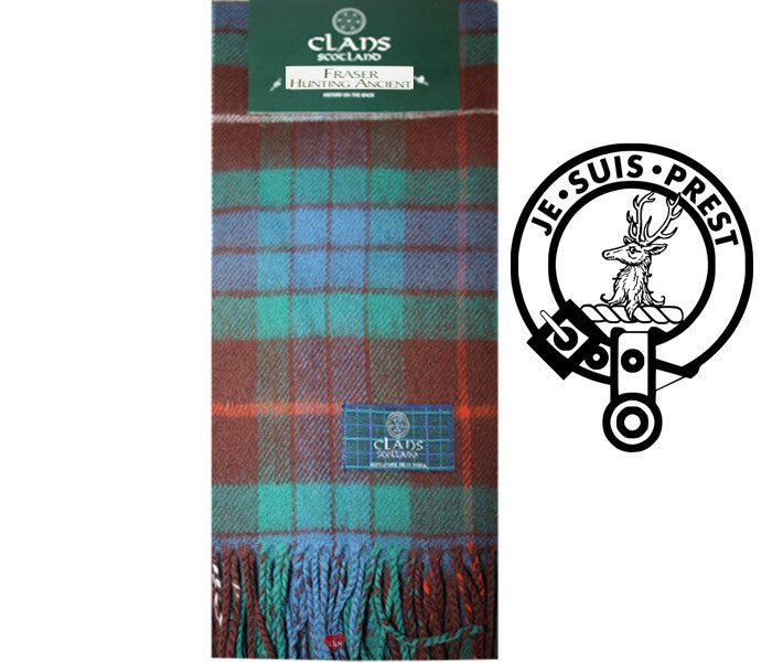 Fraser Hunting Ancient Tartan Scarf (Clan Scarf)