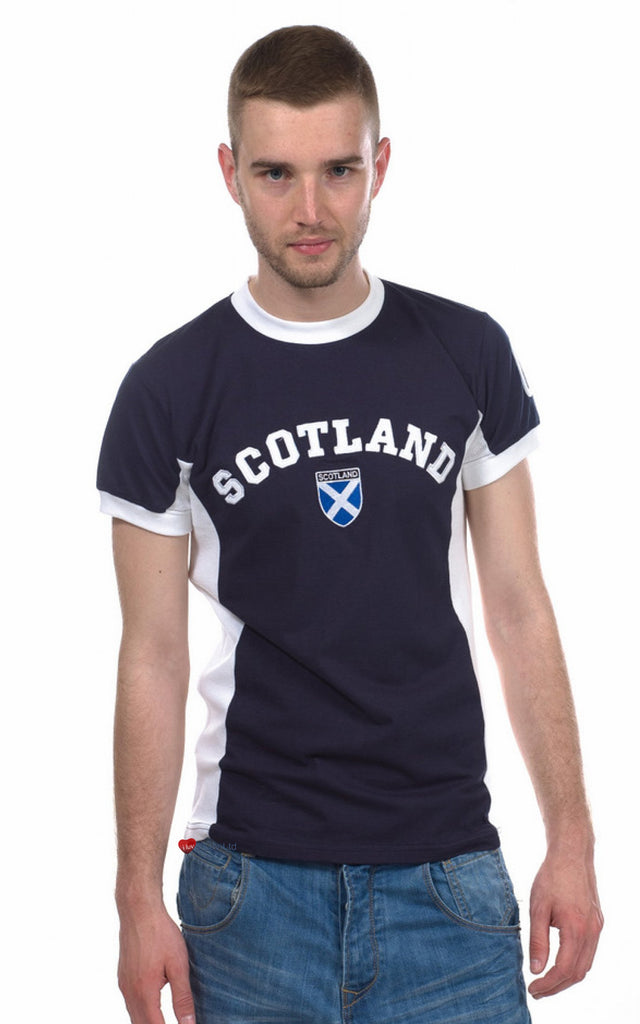 Mens Scotland No 9 T-Shirt Navy