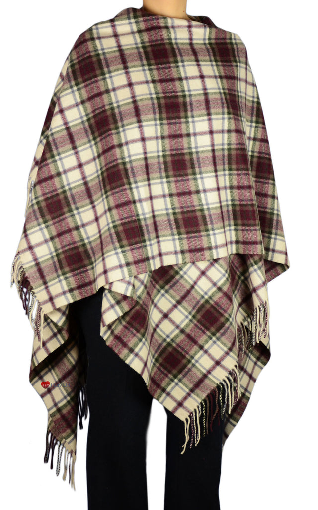 Serape Cape Lambswool MacDuff Dress Tartan