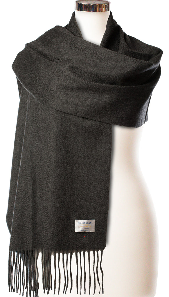 Cashmere Stole in Charcoal Grey