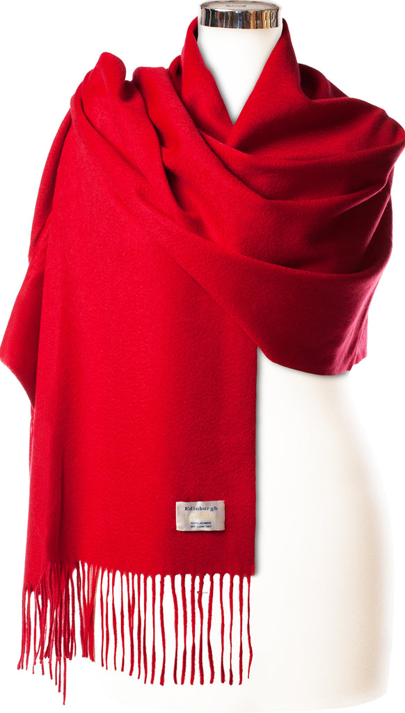 Cashmere Stole in Rich Vibrant Red