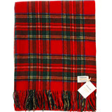 Cashmere Throw in Royal Stewart Tartan - iluvcashmere