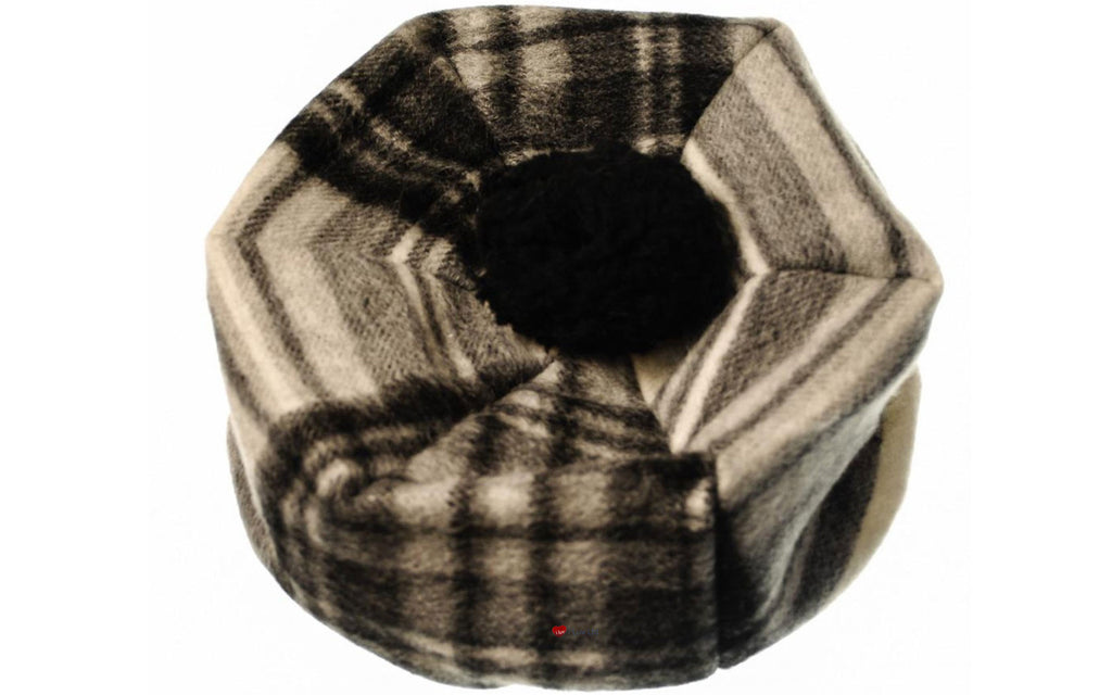 Lambswool Tammy Hat in Stewart Grey Dress Tartan