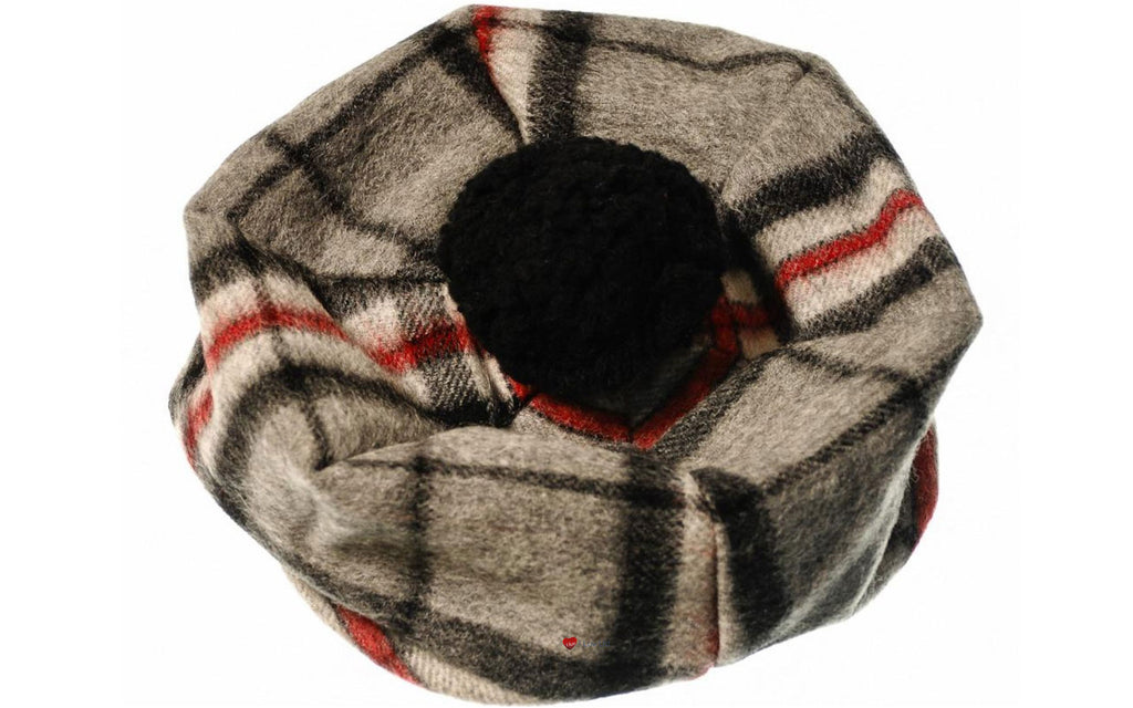 Lambswool Tammy Hat in Thomson Grey Tartan
