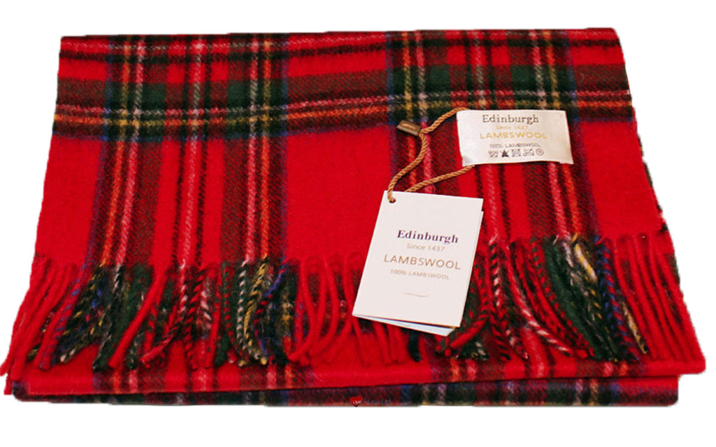 Edinburgh Pure Lambswool Scarf in Royal Stewart Tartan