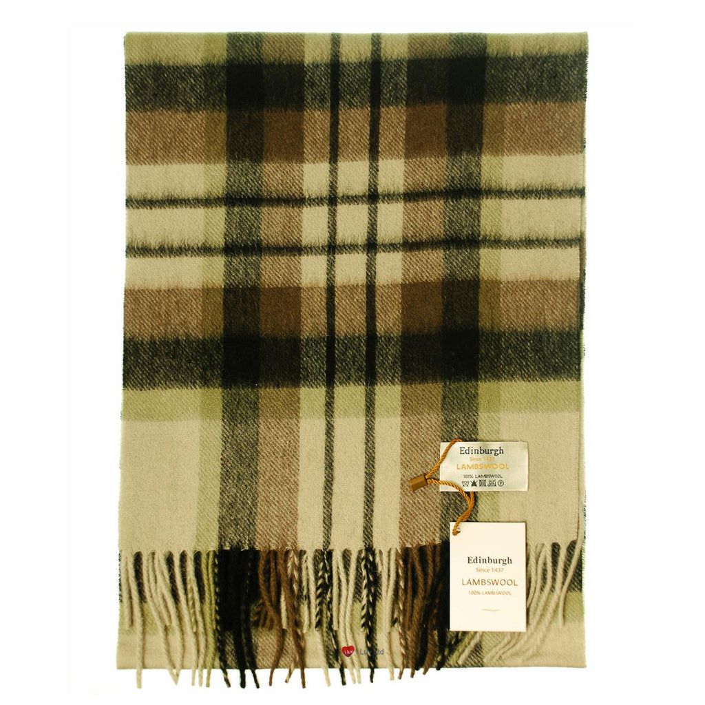 Edinburgh Pure Lambswool Scarf in MacDuff Natural Tartan