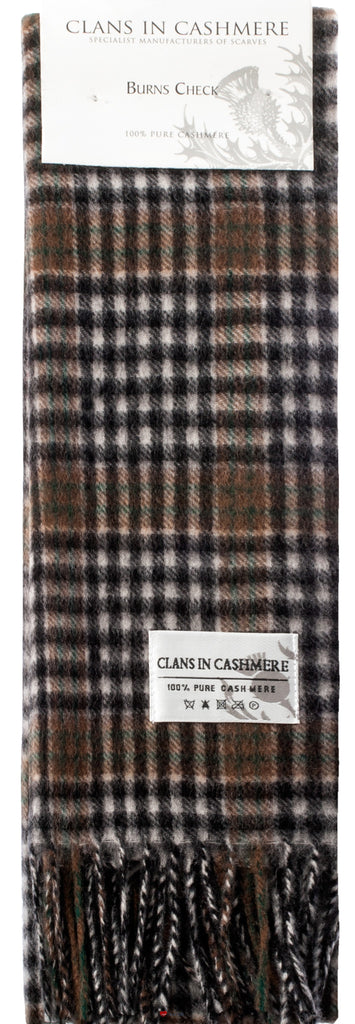 Cashmere Clan Scarf Burns Check