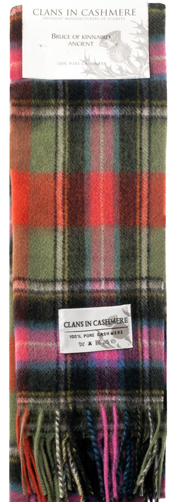 Cashmere Clan Scarf Bruce of Kinnaird Ancient