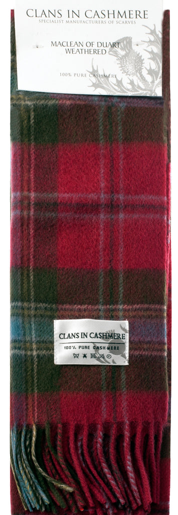 Cashmere Clan Scarf MacLean of Duart Weathered