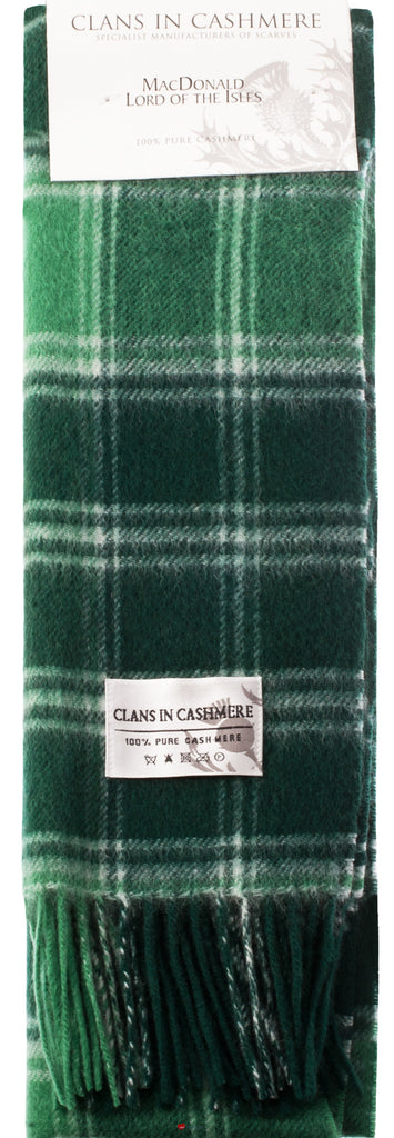 Cashmere Clan Scarf MacDonald Lord of Isles Modern