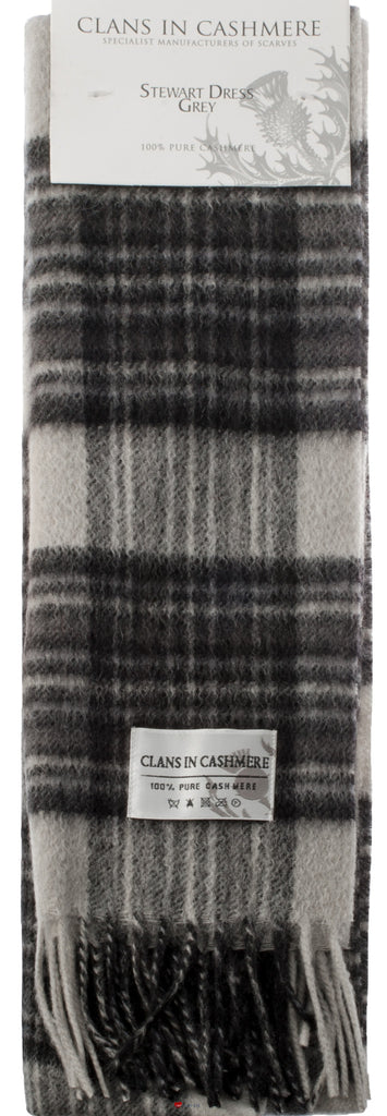 Cashmere Clan Scarf Stewart Grey Dress Modern