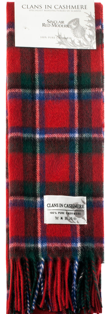 Cashmere Clan Scarf Sinclair Red Modern
