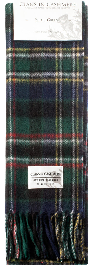 Cashmere Clan Scarf Scott Green Modern