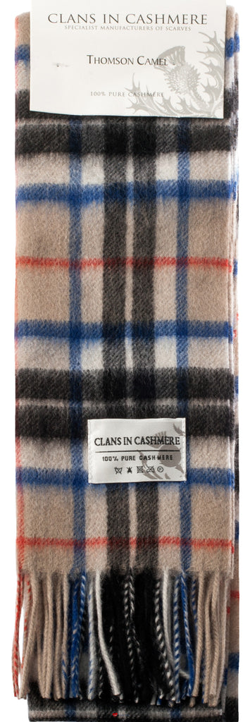Cashmere Clan Scarf Thomson Camel