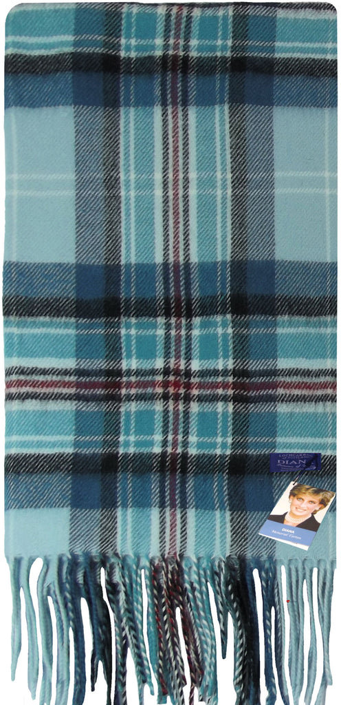 Diana Memorial Tartan Luxurious Scarf in 100% Cashmere - iluvcashmere