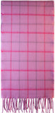 Windowpane Pink Luxurious Scarf in 100% Cashmere - iluvcashmere