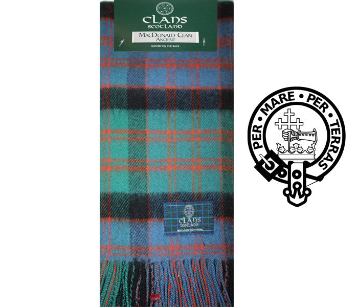 MacDonald Clan Ancient Tartan Scarf (Clan Scarf)