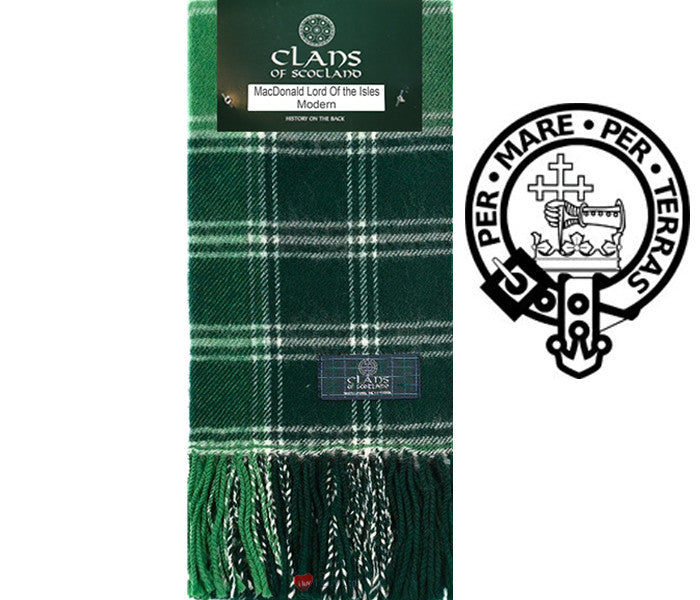MacDonald Lord of the Isles Modern Tartan Scarf (Clan Scarf)