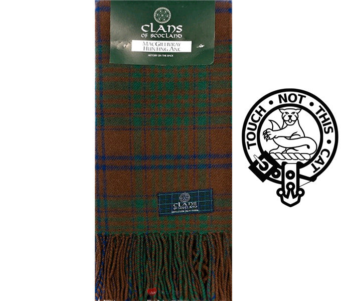 MacGillivray Hunting Ancient Tartan Scarf (Clan Scarf)