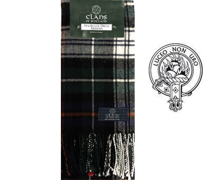 MacKenzie Dress Modern Tartan Scarf (Clan Scarf)