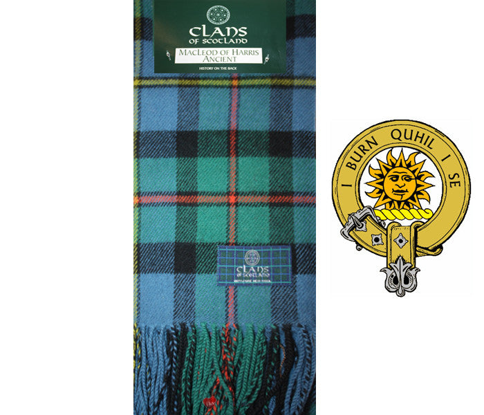 Macleod of Harris Ancient Tartan Scarf (Clan Scarf)