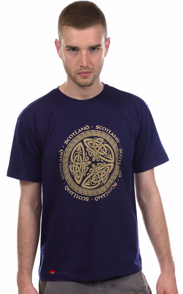 T-Shirt Celtic Circle Cream Celtic on Navy