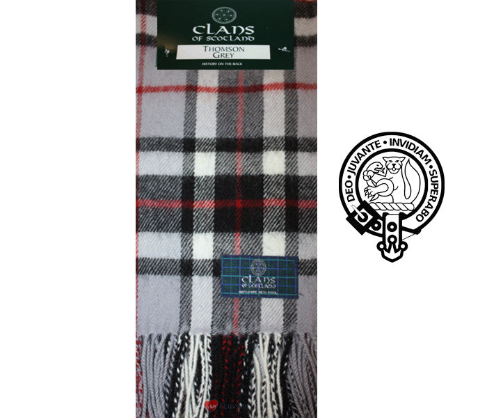 Thomson Grey Tartan Scarf (clan scarf)