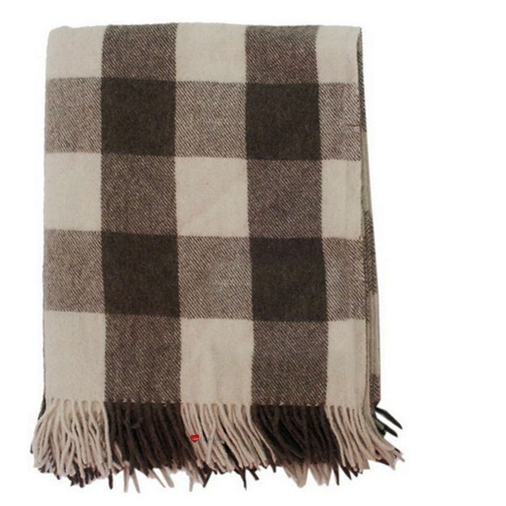 Wool Tartan Blanket Jacob Check