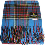Throw Blanket Rug Wool Mix Blanket in Anderson Modern Tartan