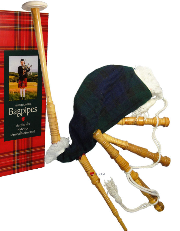 Bagpipe Miniature Playable Bagpipe with Reed Black Watch