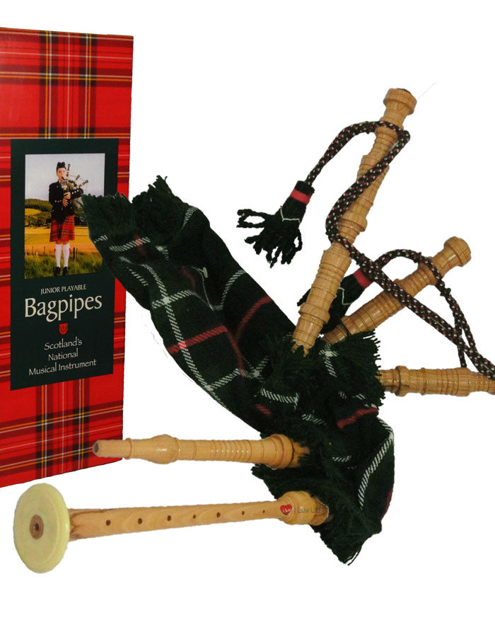 Bagpipe Miniature Playable Bagpipe with Reed Mackenzie Tartan