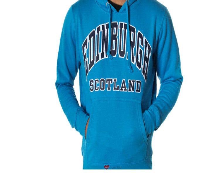 Womens Hoodie Top Edinburgh Scotland Sapphire Blue