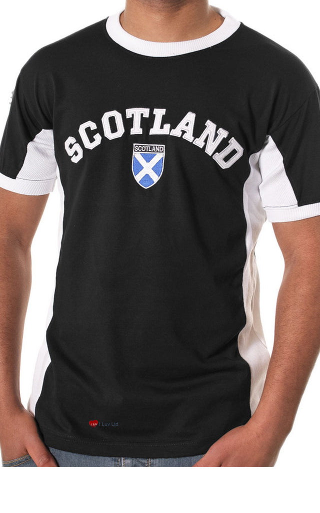 Mens Scotland No 9 T-Shirt Black