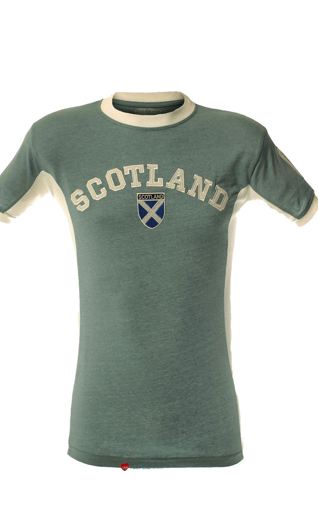 Mens Scotland No 9 T-Shirt Marl Baby Blue