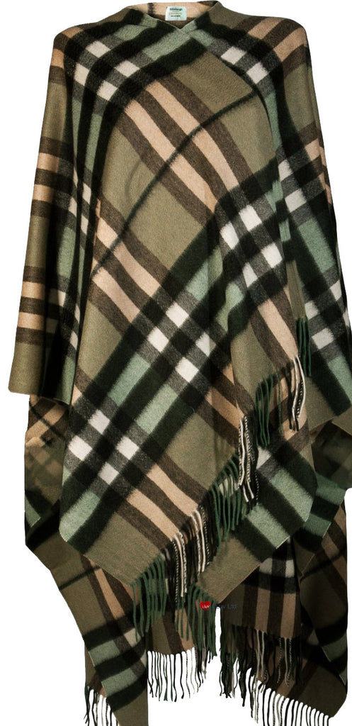 Serape Cape Lambswool Thomson Sherwood Tartan