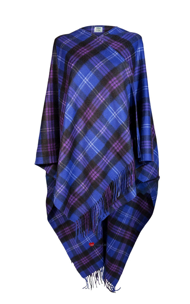 Ladies Luxurious Cashmere Cape in Heritage of Scotland Tartan - iluvcashmere