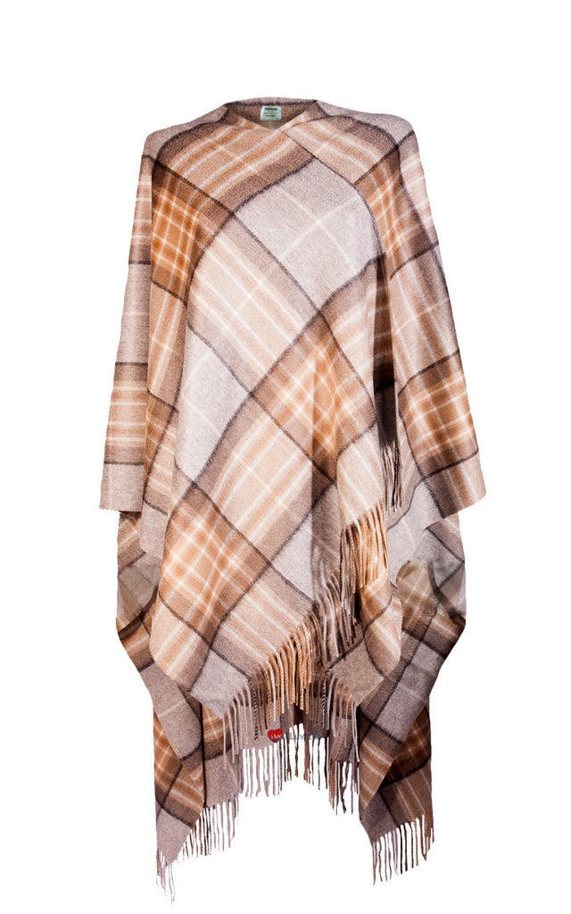 Ladies Luxurious Cashmere Cape in MacKellar Tartan - iluvcashmere