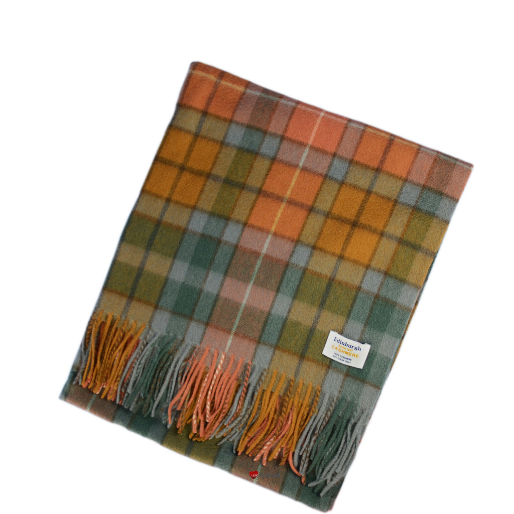 Cashmere Stole in Buchanan Antique Tartan - iluvcashmere