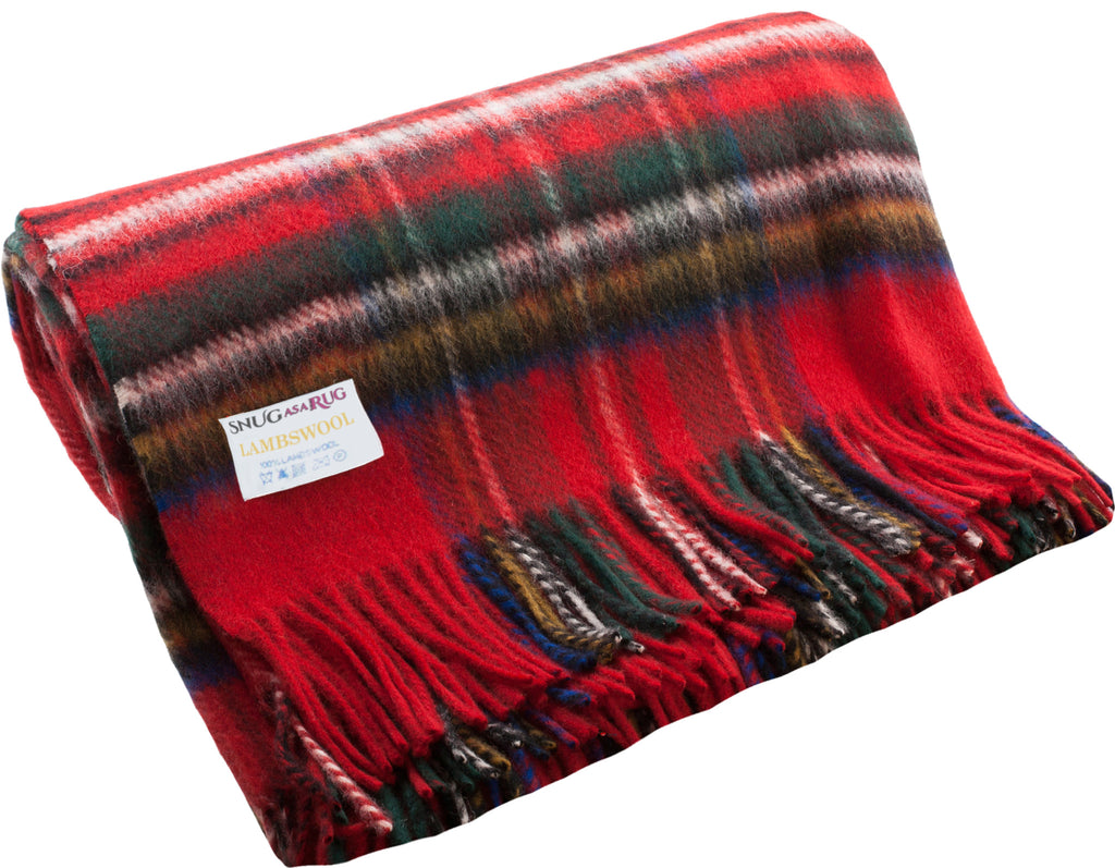 Lambswool Throw in Royal Stewart Tartan