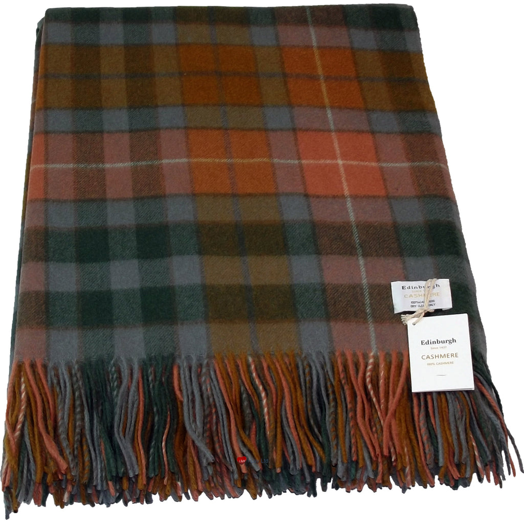 Cashmere Throw in Buchanan Antique Tartan - iluvcashmere