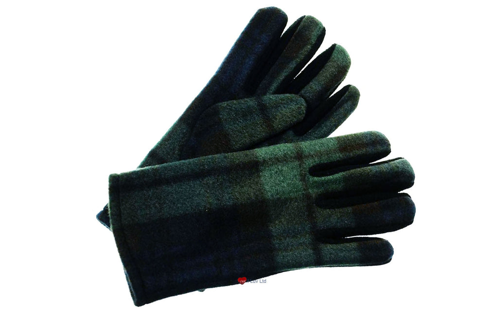 Ladies Tartan Gloves Black Watch Tartan