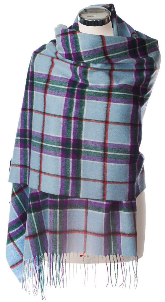 Edinburgh Lambswool Stole with World Peace Tartan Design