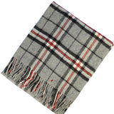 Ladies Cashmere Cape in Thomson Grey Tartan - iluvcashmere