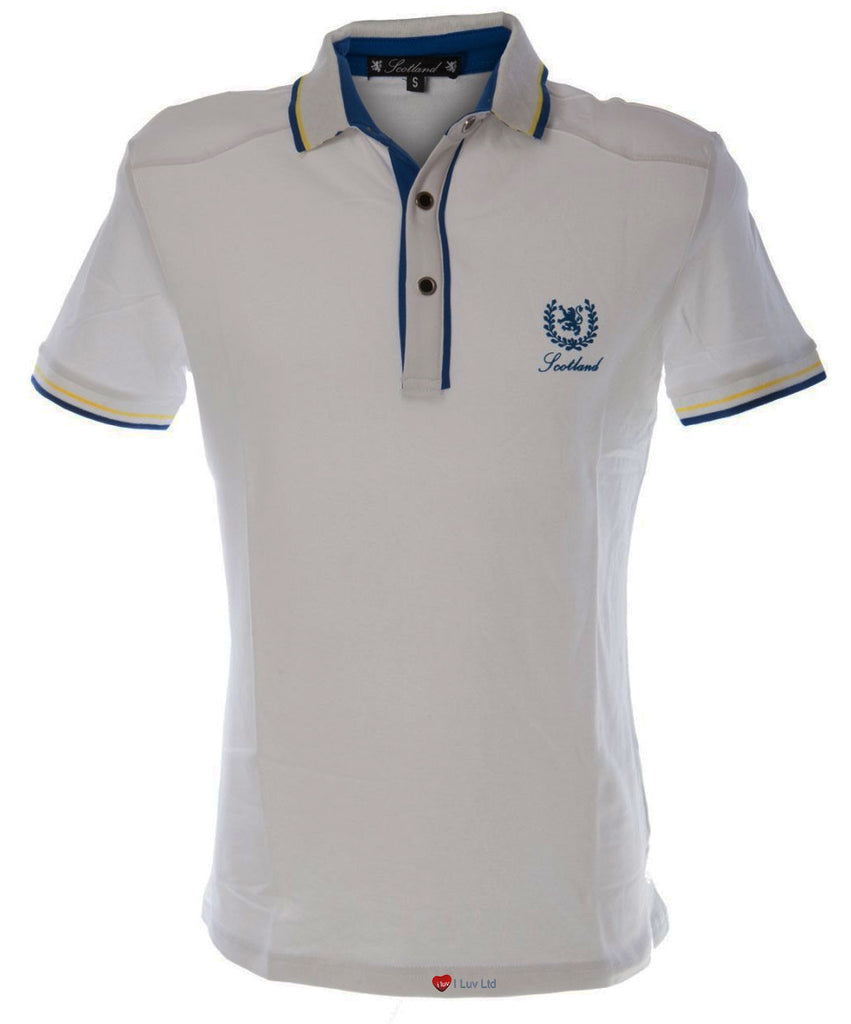 Mens Formula 1 Motor Racing Polo Shirt in White