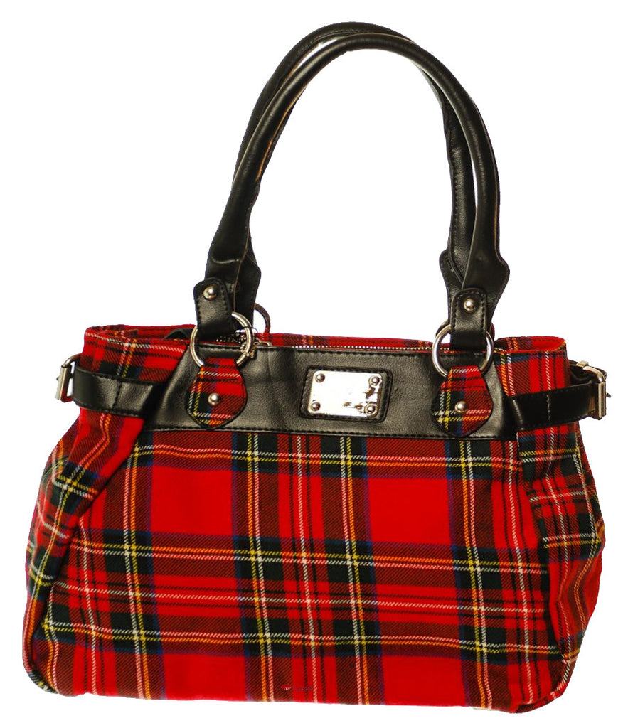'Eva' Wool Handbag Stewart Royal Tartan Design