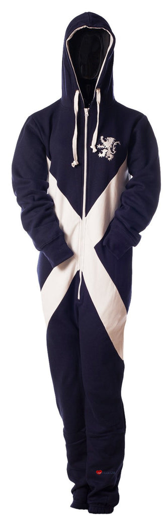 Onesies Nightwear Scotland Saltire Design Navy