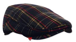 Modern Flat Cap Green Red Yellow Scottish Tartan